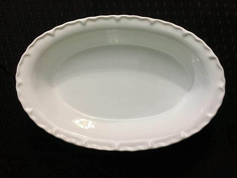 Travessa de Porcelana Oval Funda